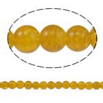 Glass Beads kërcitje, Xham, Round, asnjë, i verdhë, 8mm, : 1.5mm, : 31.4Inç, 10Fillesat/Qese,  Qese