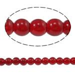 Glass Beads Moda, Xham, Round, i lyer, asnjë, kuqe të gjakut, 8mm, : 1mm, : 31.4Inç, 10Fillesat/Qese,  Qese