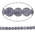 Glass Beads kërcitje, Xham, Round, asnjë, vjollcë, 8mm, : 1.5mm, : 31.4Inç, 10Fillesat/Qese,  Qese
