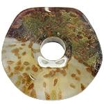 Rërë Pendants Gold Lampwork, Gjashtëkëndësh, asnjë, rërë ari, asnjë, 47x47x11.50mm, : 12mm, 20PC/Shumë,  Shumë