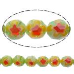 Glass Beads Chevron, Round, asnjë, asnjë, 8mm, : 1.5mm, :14Inç, 10Fillesat/Shumë,  Shumë