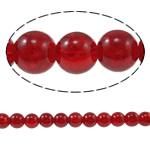Glass Beads kërcitje, Xham, Round, asnjë, kuqe të gjakut, 10mm, : 1.5mm, : 32Inç, 10Fillesat/Qese,  Qese