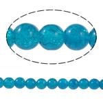 Glass Beads kërcitje, Xham, Round, asnjë, Ngjyrë gurkali, 10mm, : 1.5mm, : 31.4Inç, 10Fillesat/Qese,  Qese