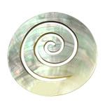 Pendants Natyrore Zi Shell, Dredhë, asnjë, nuk ka vrimë, asnjë, 63x63x2.50mm, 5PC/Shumë,  Shumë