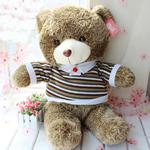 Teddy Bear Toy, Velveteen, punuar me dorë, ngjyrë kafe, 90cm,  PC