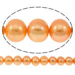 Patates Beads ujërave të ëmbla kulturuar Pearl, Pearl kulturuar ujërave të ëmbla, i lyer, portokall, 10-11mm, : 0.8mm, : 14.5Inç,  14.5Inç,