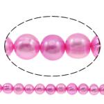 Patates Beads ujërave të ëmbla kulturuar Pearl, Pearl kulturuar ujërave të ëmbla, i lyer, rozë, 10-11mm, : 0.8mm, : 14.5Inç,  14.5Inç,