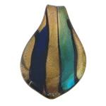 Pendants Lampwork Fashion, Lot, asnjë, pluhur ari, asnjë, 34x62.80x7.50mm, : 7.2mm, 30PC/Qese,  Qese