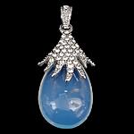 Deti Pendants opal, Deti Opal, with Tunxh, Lot, ngjyrë platin praruar, me diamant i rremë, asnjë, 21.50x40x12mm, : 4x5mm, 20PC/Qese,  Qese