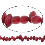 Beads Natyrore Shell ujërave të ëmbla, Predhë, Syri kali, i lyer, asnjë, verë e kuqe, 9-10mm, : 1mm, : 14.7Inç,  14.7Inç,