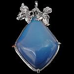 Deti Opal, with Tunxh, Diamant, ngjyrë platin praruar, asnjë, e bardhë, 32x49x8mm, : 5x4mm, 20PC/Shumë,  Shumë