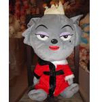 Teddy Bear Toy, Velveteen, Ujk, punuar me dorë, gri, 40cm,  PC