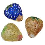 Beads Smooth Cloisonne, Lulushtrydhe, i përzier, 17x20x8mm, : 2mm, 40PC/Qese,  Qese