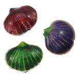 Beads Smooth Cloisonne, Predhë, i përzier, 21x18x9mm, : 1.5mm, 40PC/Qese,  Qese