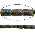 Rërë Beads Gold Lampwork, Kolonë, asnjë, rërë ari, multi-colored, 16x10mm, : 2.5mm, 20PC/Shumë,  Shumë