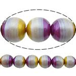 Beads dorë Lampwork, Round, brushwork, asnjë, multi-colored, 10mm, : 2mm, 20PC/Shumë,  Shumë