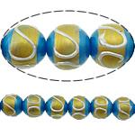 Beads dorë Lampwork, Round, brushwork, asnjë, multi-colored, 12mm, : 2mm, 10PC/Shumë,  Shumë