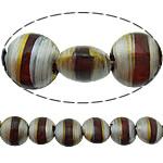 Beads dorë Lampwork, Round Flat, brushwork, asnjë, asnjë, 12x12x7mm, : 2mm, 10PC/Shumë,  Shumë