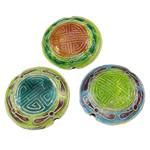 Pendants Cloisonne, Round Flat, i përzier, 23x8mm, : 1.5mm, 30PC/Qese,  Qese