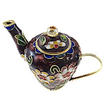 Cloisonne Decoration, Teapot, 87x56x45mm, Sold by PC