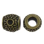 Beads Zink Alloy Vendosja, Alloy zink, Daulle, Ngjyra antike bronz i praruar, asnjë, asnjë, , nikel çojë \x26amp; kadmium falas, 12x11mm, : 5.5mm, 100PC/Qese,  Qese