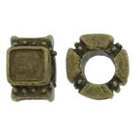 Beads Zink Alloy Vendosja, Alloy zink, Rondelle, Ngjyra antike bronz i praruar, asnjë, asnjë, , nikel çojë \x26amp; kadmium falas, 12x11x6.50mm, : 5.5mm, 200PC/Qese,  Qese