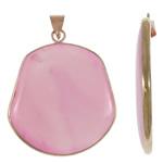 Agat pendants bizhuteri, Pink agat, Oval, natyror, asnjë, 42x50.50x5mm, : 5x6mm, 20PC/Shumë,  Shumë