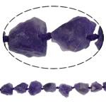Beads kuarc bizhuteri, Ametist, Nuggets, natyror, asnjë, 17-25mm, : 2mm, :16Inç, 5Fillesat/Shumë,  Shumë