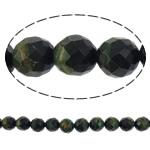 Syri Tiger Beads, Round, natyror, faceted, 12mm, : 1mm, : 15.5Inç, 5Fillesat/Shumë,  Shumë