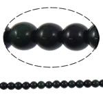 Syri Tiger Beads, Round, natyror, asnjë, 10mm, : 1.5mm, :15.5Inç, 5Fillesat/Shumë,  Shumë