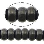 Beads bizhuteri gur i çmuar, Qymyrit kuarc Stone, Rondelle, asnjë, asnjë, 6x12mm, : 1mm, :16Inç, 5Fillesat/Shumë,  Shumë