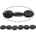 Beads bizhuteri gur i çmuar, Qymyrit kuarc Stone, Oval Flat, asnjë, asnjë, 18x13x5mm, : 1.2mm, :16Inç, 5Fillesat/Shumë,  Shumë