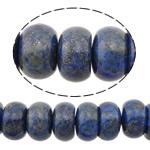 Beads lapis lazuli, Natyrore lapis lazuli, Rondelle, natyror, 6x10mm, : 0.9mm, :16Inç, 5Fillesat/Shumë,  Shumë