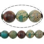 Beads bizhuteri gur i çmuar, Aqua Terra Jasper, Round, i lyer, asnjë, 12mm, : 1.2mm, :16Inç, 5Fillesat/Shumë,  Shumë