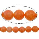 Beads Jade, Lemon Jade, Round, i lyer, kërcitje, 12mm, : 1.5mm, :16Inç, 5Fillesat/Shumë,  Shumë