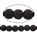 Beads Natyrore Lava, Lavë, Round, natyror, 6mm, : 1.2mm, :16Inç, 10Fillesat/Shumë,  Shumë