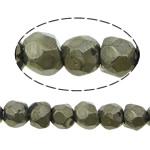 Beads bizhuteri gur i çmuar, Pirit Artë, Nuggets, asnjë, 4mm, : 1mm, :16Inç, 5Fillesat/Shumë,  Shumë