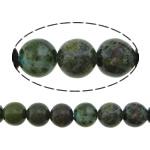 Beads bizhuteri gur i çmuar, Stone Gjelbër Rainforest, Round, natyror, asnjë, 4mm, : 1.2mm, :16Inç, 10Fillesat/Shumë,  Shumë