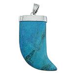 Varëse Bruz, Bruz sintetike, Shape Tjera, ngjyrë platin praruar, asnjë, blu, 29x55x10mm, : 7x10mm, 10PC/Shumë,  Shumë