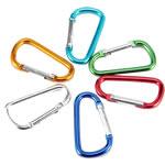 Aluminum Carabiner mbajtëse çelësash, Letër, pikturë, ngjyra të forta, ngjyra të përziera, 96x50mm, 50PC/Shumë,  Shumë