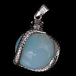 Deti Pendants opal, Deti Opal, with Tunxh, Gjarpër, ngjyrë platin praruar, asnjë, asnjë, 21x26mm, : 4x6mm, 20PC/Shumë,  Shumë