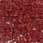 2 Glass Beads Pritini Seed, Seed Glass Beads, Tub, asnjë, ngjyra të forta, kuqe të thellë, 2x2mm, : 1mm, 30000PC/Qese,  Qese