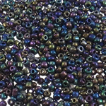 Glass Beads praruar Seed, Seed Glass Beads, Round, i praruar, asnjë, asnjë, 2x1.9mm, : 1mm, 30000PC/Qese,  Qese