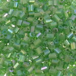 2 Glass Beads Pritini Seed, Seed Glass Beads, Tub, ylber, i tejdukshëm, e gjelbër, 2x2mm, : 1mm, 30000PC/Qese,  Qese