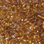 2 Glass Beads Pritini Seed, Seed Glass Beads, Tub, argjend-rreshtuan, asnjë, toka verdhë, 2x2mm, : 1mm, 30000PC/Qese,  Qese