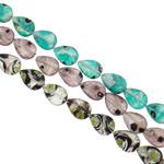 Petë Silver Beads Lampwork, Lot, punuar me dorë, petë argjendi, ngjyra të përziera, 11.50x16x6mm, : 1-1.5mm, : 15.7Inç, 20Fillesat/Qese,  Qese