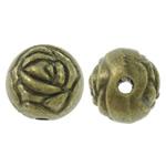 Alloy zink, Round, Ngjyra antike bronz i praruar, asnjë, asnjë, , nikel çojë \x26amp; kadmium falas, 9mm, : 2mm, 400PC/KG,  KG