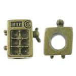 Beads Zink Alloy Vendosja, Alloy zink, Shape Tjera, Ngjyra antike bronz i praruar, asnjë, asnjë, , nikel çojë \x26amp; kadmium falas, 14.50x15x10mm, : 5.5mm, 100PC/Qese,  Qese
