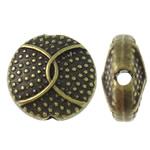 Beads aliazh zink Flat, Alloy zink, Round Flat, Ngjyra antike bronz i praruar, asnjë, asnjë, , nikel çojë \x26amp; kadmium falas, 10x5mm, : 1.5mm, 710PC/KG,  KG