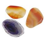 Agat pendants bizhuteri, Agat përziera, Shape përziera, natyror, asnjë, 30-51mm, : 1-2mm, 20PC/Shumë,  Shumë